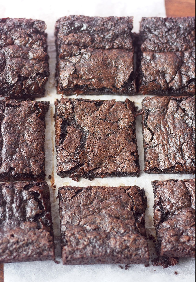 Everything you could ask for in a brownie: easy, delicious, and vegan! So chewy and fudgy, these brownies from scratch are just as simple as a box mix, but taste so much better!