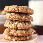 Oats and coconut collide in these amazing coconut oatmeal cookies! These are naturally vegan, perfectly sweet, chewy, and full of amazing coconut flavour!
