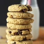 These may just be the easiest vegan chocolate chip cookies ever! Made with no gluten or oil, these chickpea chocolate chip cookies are simple, delicious and a healthier alternative to regular cookies!