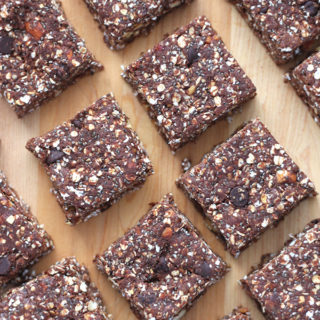 These energy and protein packed Chocolate Almond Chia Protein Bars are an incredibly easy snack full of wholesome ingredients - no baking required!